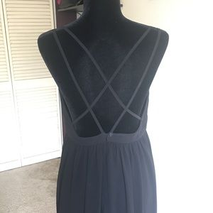 Criss cross Strap Maxi Summer Dress Black